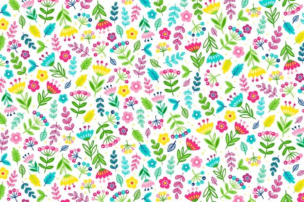 Papel pintado ditsy estampado floral colorido