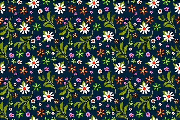 Papel pintado estampado de flores ditsy