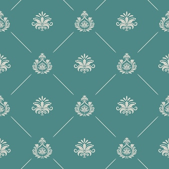 Papel pintado de estilo barroco real. fondo sin fisuras patrón sin fin barroco real, telón de fondo de decoración barroca real, patrón de vector de damasco renacentista
