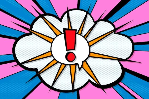 Papel pintado de estilo cómic de diseño plano