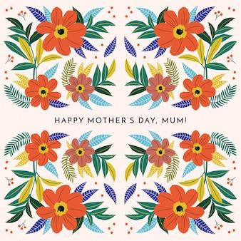 Papel pintado floral del día de la madre
