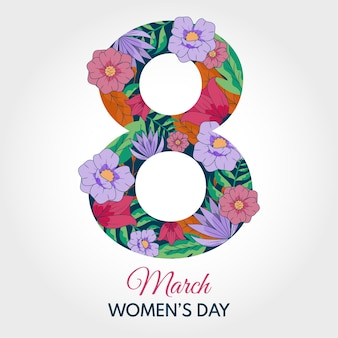 Papel pintado floral del día de la mujer