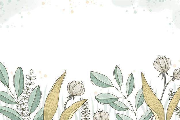 Papel pintado floral dibujado a mano
