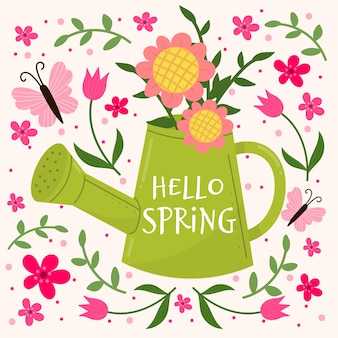 Papel pintado floral hola primavera