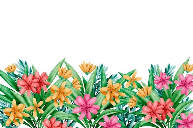 Papel pintado floral primavera acuarela