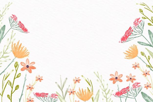 Papel pintado de flores de acuarela en diseño de colores pastel