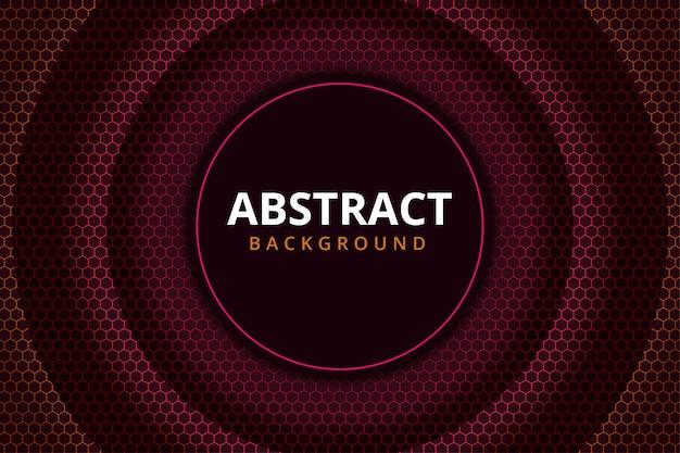 Papel pintado futurista moderno abstracto del fondo del acero del metal del hexágono en color rojo granate