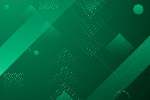 Papel pintado geométrico abstracto verde