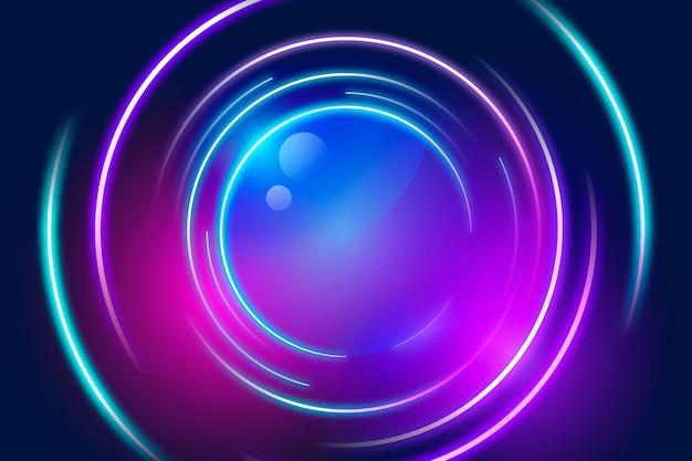 Papel pintado geométrico de neón
