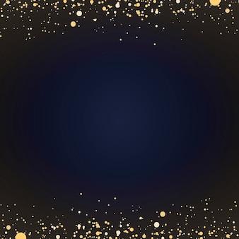 Papel pintado minimalista con partículas decorativas doradas brillantes.