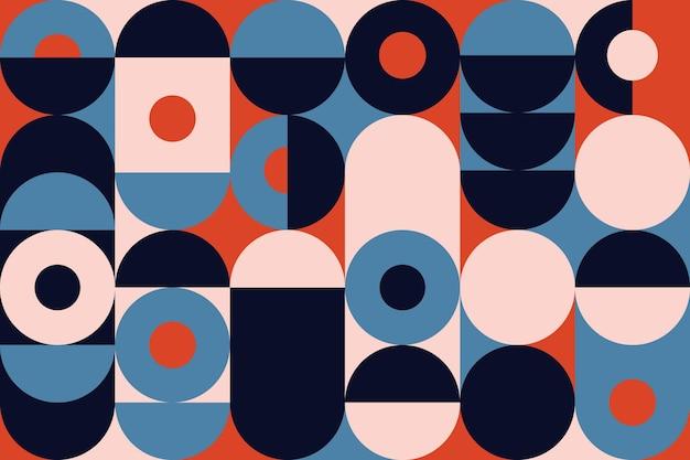 Papel pintado mural geométrico abstracto