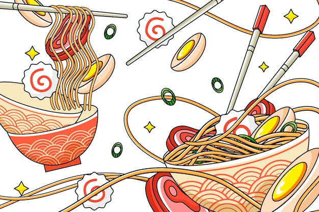 Papel pintado mural restaurante asiático