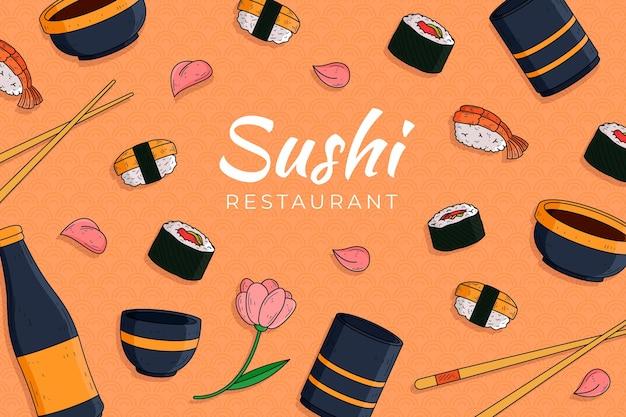 Papel pintado mural restaurante