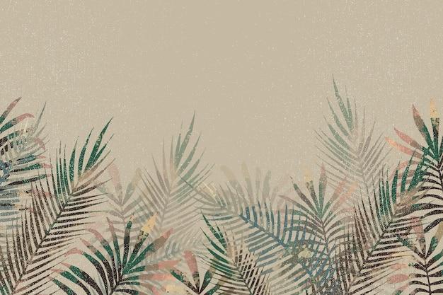 Papel pintado mural tropical con espacio vacío