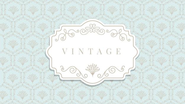 Papel pintado ornamental vintage