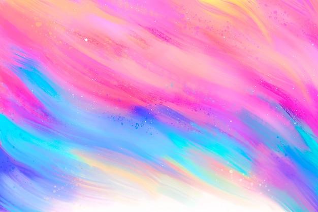 Papel pintado pintado a mano colorido abstracto Vector Premium