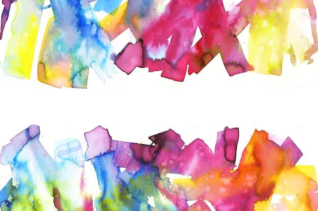 Papel pintado pintado a mano colorido vibrante