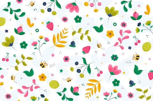 Papel pintado plano de primavera