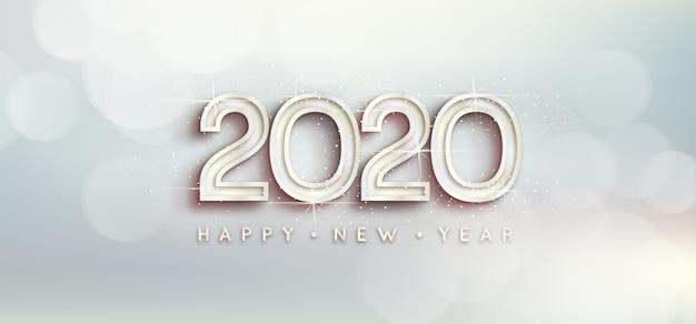Papel pintado plateado año nuevo 2020