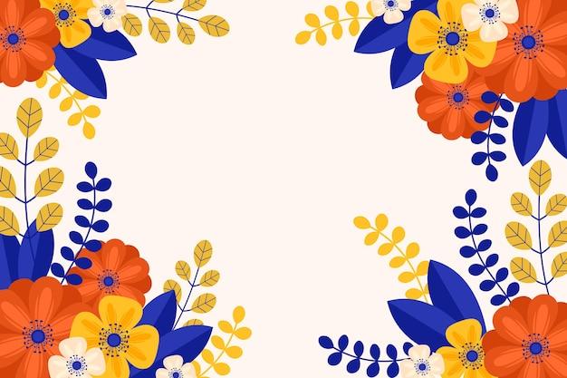 Papel pintado de primavera de diseño plano