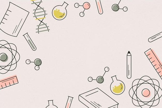 Papel pintado retro de la ciencia