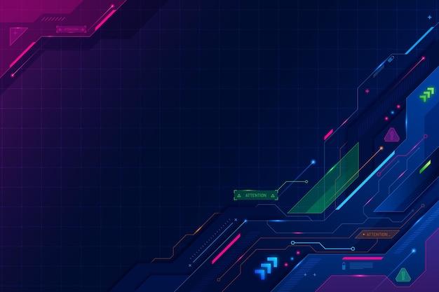Papel pintado tecnológico futurista