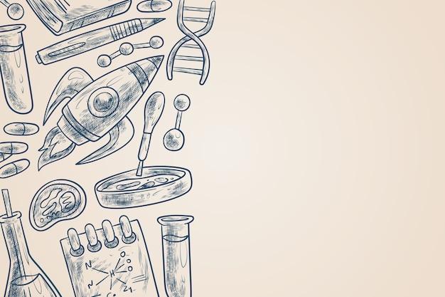 Papel pintado vintage de educación científica