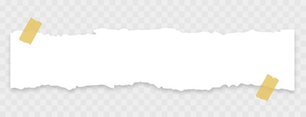 Papel rasgado con banner de cinta adhesiva