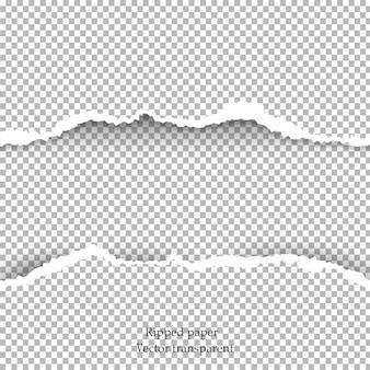 Papel rasgado y fondo transparente con espacio para texto,