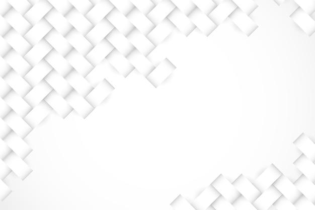 Papel tapiz blanco en concepto de papel 3d