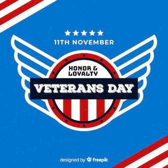 Papel tapiz de diseño plano del día de los veteranos