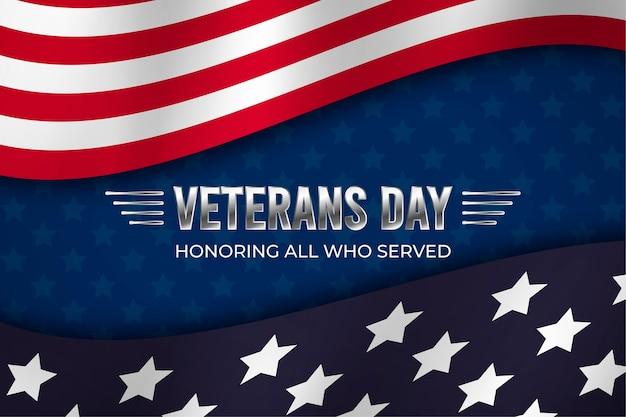 Papel tapiz de diseño plano día de los veteranos