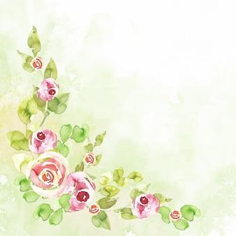 Papel tapiz floral acuarela en colores pastel