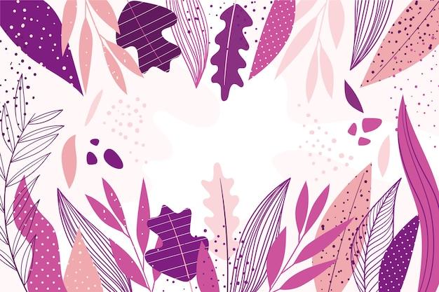 Papel tapiz floral de diseño plano