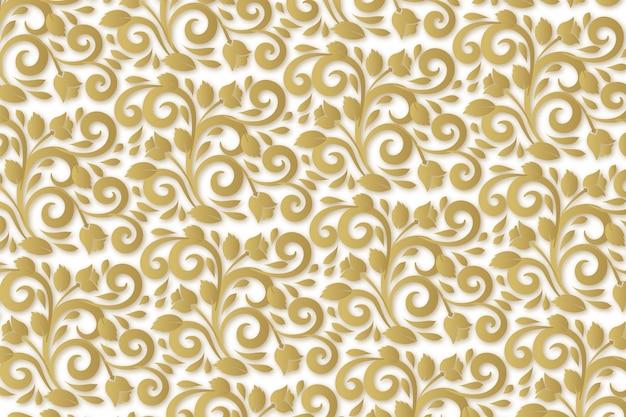 Papel tapiz de flores ornamentales abstractas