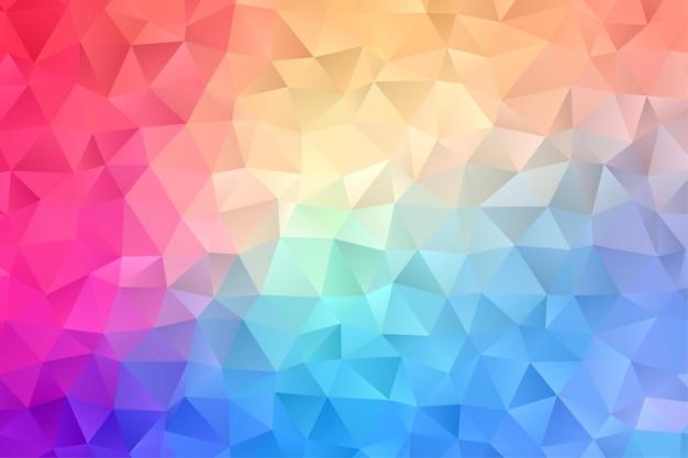 Papel tapiz de fondo abstracto. colorido triángulo polígono hexágono vector premium