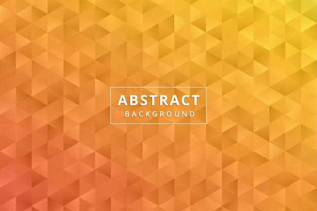 Papel tapiz de fondo abstracto. hexágono polígono amarillo naranja vector premium
