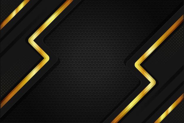 Papel tapiz de fondo de acero metálico elegante en color oro negro