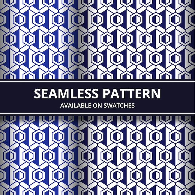 Papel tapiz de fondo geométrico de patrones sin fisuras en color azul