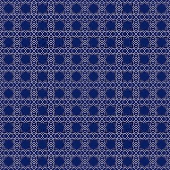 Papel tapiz de fondo de patrones sin fisuras islámicas geométricas de lujo