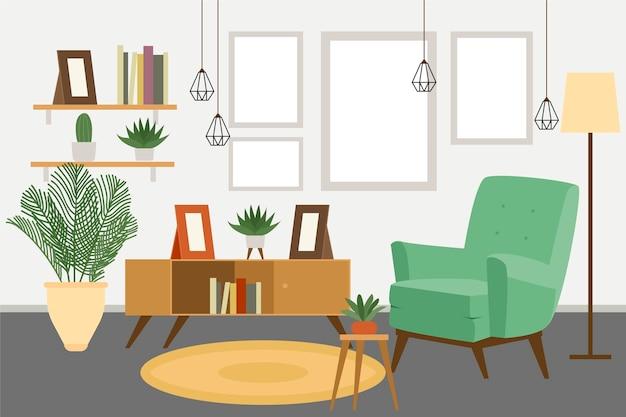 Papel tapiz interior de casa para videollamadas