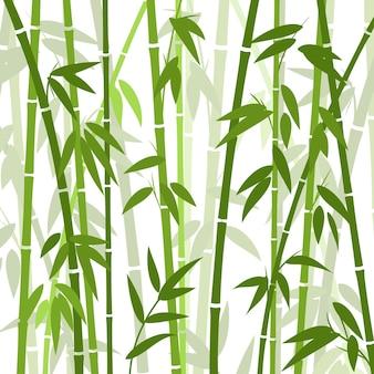 Papel tapiz oriental de hierba de bambú chino o japonés. fondo de plantas tropicales asiáticas