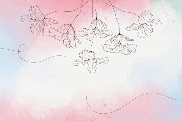 Papel tapiz pastel suave con flores