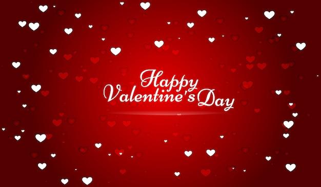 Papel tapiz rojo con corazones para el día de san valentín