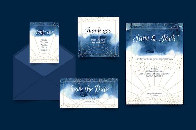 Papelería de boda celestial