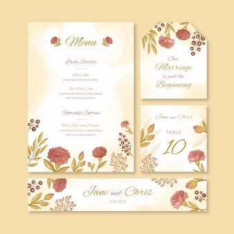 Papelería de boda colorida