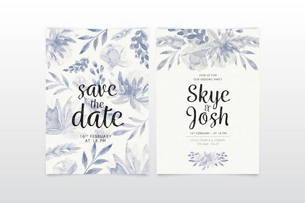 Papelería de boda floral