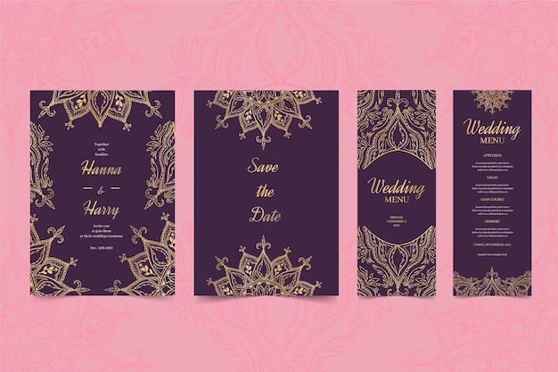 Papelería de boda india