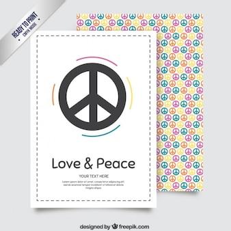 Papelería colorida de paz