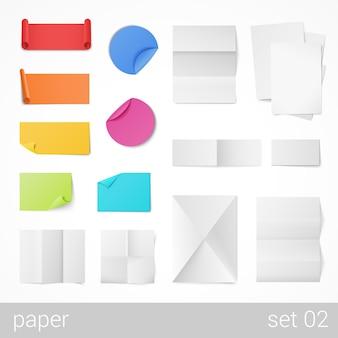 Papelería hojas de papel